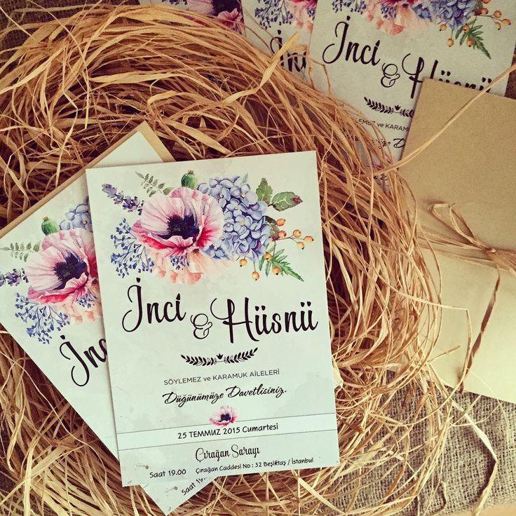 Wedding invitation /Düğün davetiyesi www.masalsiatolye.com