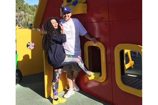 Rob Kardashian Celebrated His 29th Birthday with Blac Chyna, Pedicures, and Cake