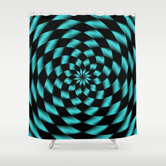 black and turquoise shower curtain. Tessalation 1 Shower Curtain by Alice Gosling 81 best  Curtains images on Pinterest Advertising