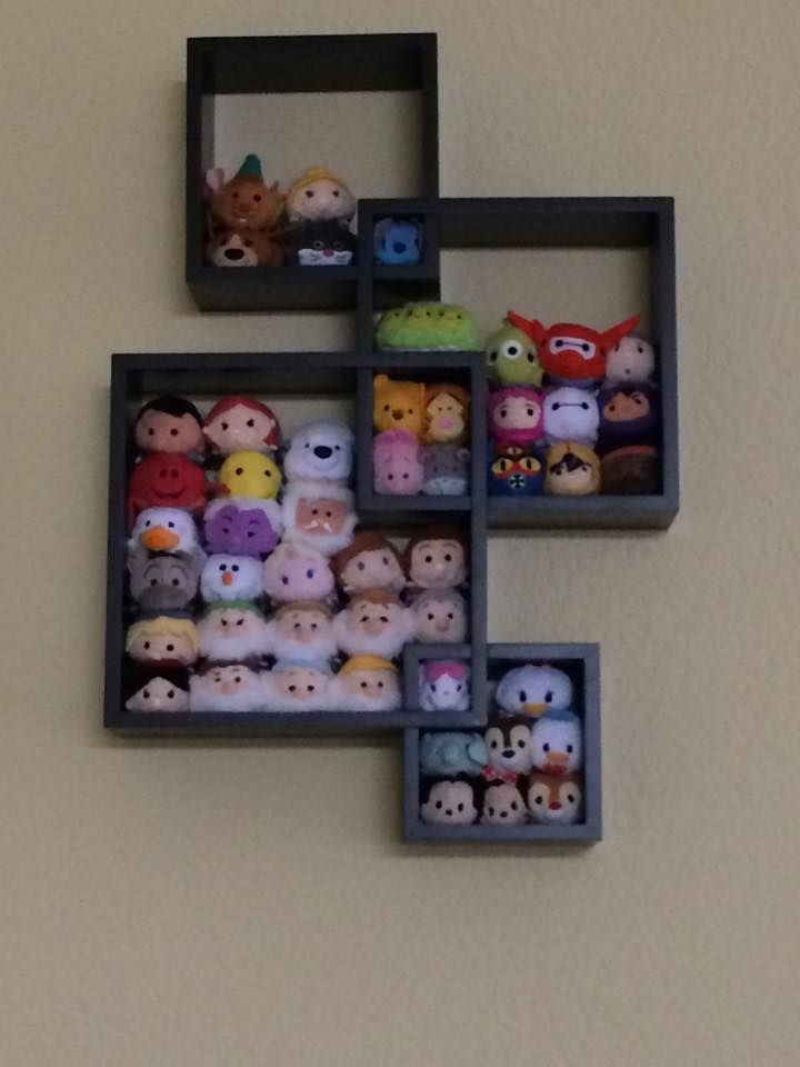 Tsum Tsum display using Target shelf