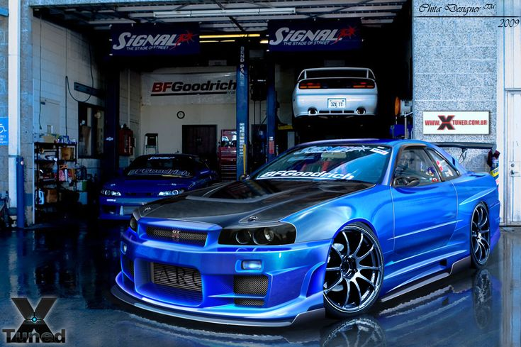Nissan Skyline GTR R34 I'm not a tuner guy but this car looks bad!!!