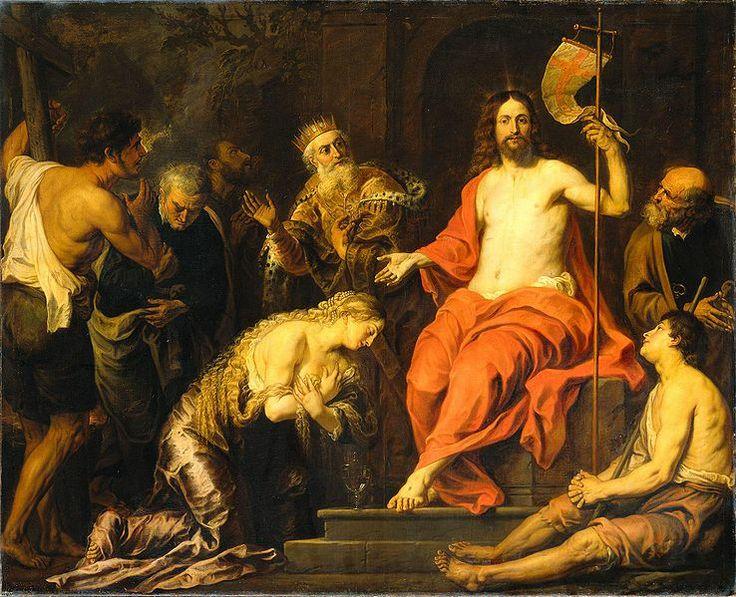 Christus en de boetvaardige zondaars (Christ and the repentant sinners) -- by Gerard Seghers (1591-1651), ca. 1603-1651
