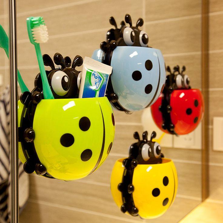 Encontre mais Prateleiras para Banheiro Informações sobre Multicolour dos desenhos animados Coccinella septempunctata escova de dentes titular combinação definir ventosa de armazenamento, de alta qualidade preço de copos, raid de armazenamento China Fornecedores, Barato garrafa de armazenamento a partir de Toys DreamWorks em Aliexpress.com