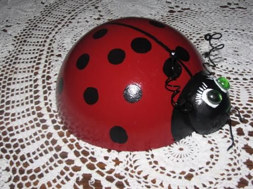 Lady Bug Bowling Ball For My Garden