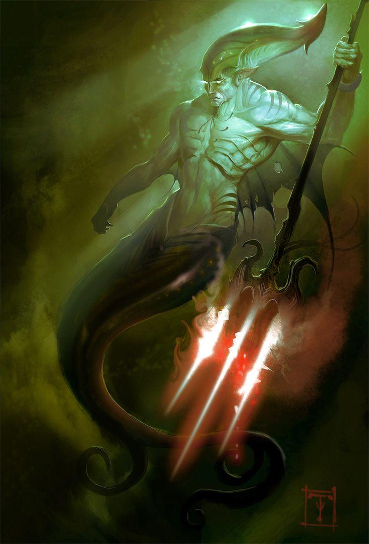 Merman. by ArtofTy on deviantART via PinCG.com