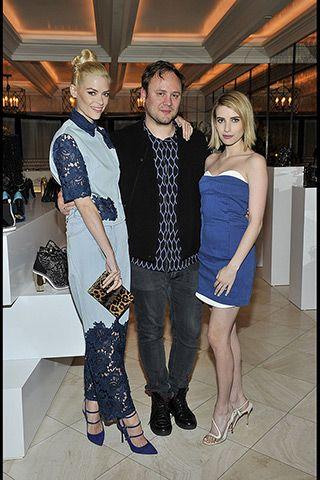 Jaime King, Nicholas Kirkwood, and Emma Roberts.