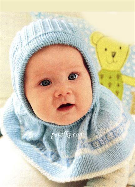 Шапка шлем для новорожденного