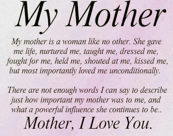 Love You Mom Quotes Gorgeous 19 Best I Love U Mom Images On Pinterest  Thoughts Truths And Words
