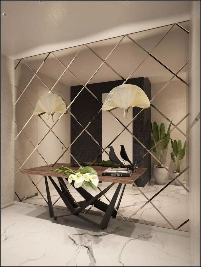 Add Class And Elegance To The Interior Of Your Home With Tufted Wall Panels Decor Around The World Mirror Wall Living Room Mirror Decor Living Room Living Room Mirrors
