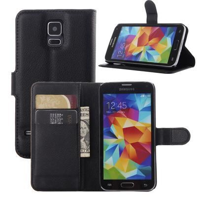 For Samsung Galaxy S4 I9500 Litchi Skin Wallet Flip Leather Stand Holder Case Phone Cover Card Hard Plastic Top Rated Cell Phones Leather Phone Cases From Huang2131031, $7.84  Dhgate.Com