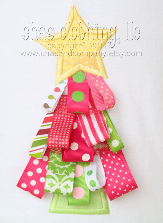ribbon tree! good idea...watch for Christmas ribbon on sale after end of season!