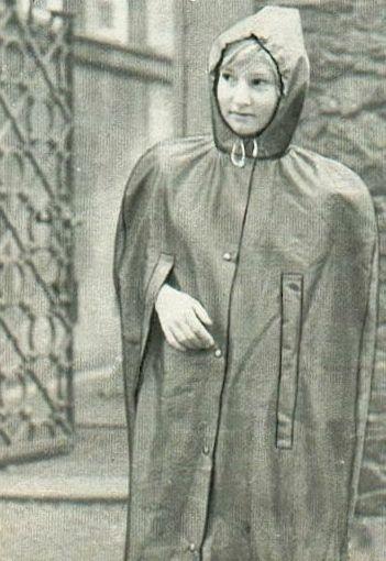 Vintage Children Rubber Rainwear Germany Rubber Lined