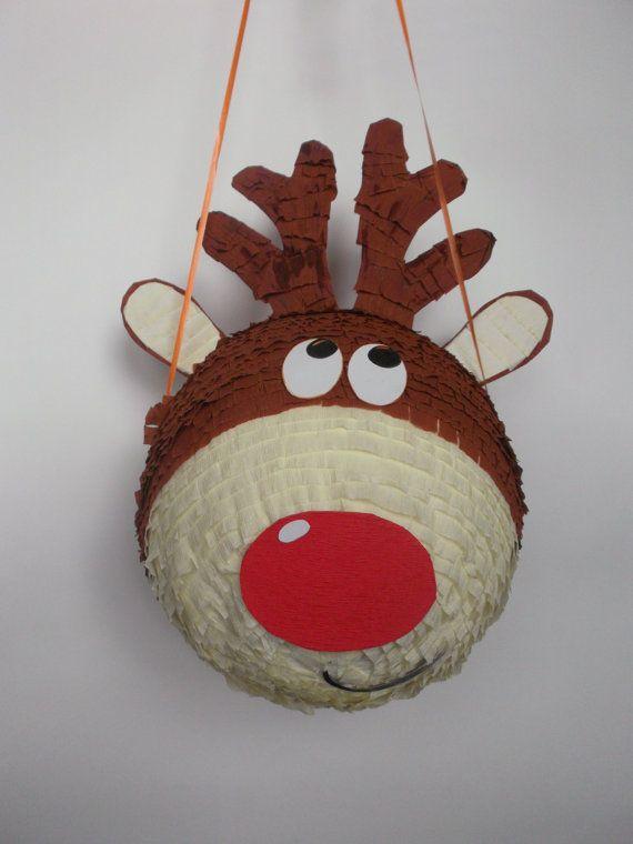 Pinata Rudolf reindeer by BabalinaWorld on Etsy
