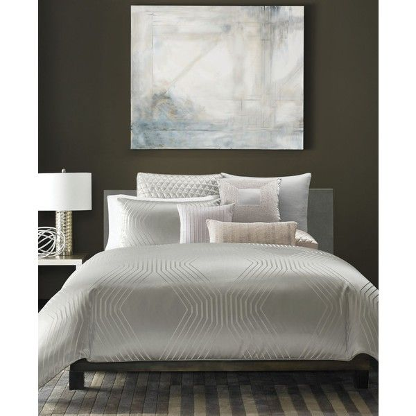 Hotel Collection Keystone King Comforter, ($420) ❤ liked on Polyvore featuring home, bed & bath, bedding, comforters, king size comforters, geometric bedding, king size bed linens, king bed linens and hotel collection bedding