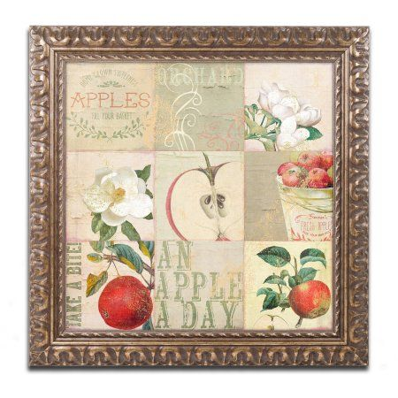 Trademark Fine Art Apple Blossoms Iii Canvas Art by Color Bakery Gold Ornate Frame, Assorted