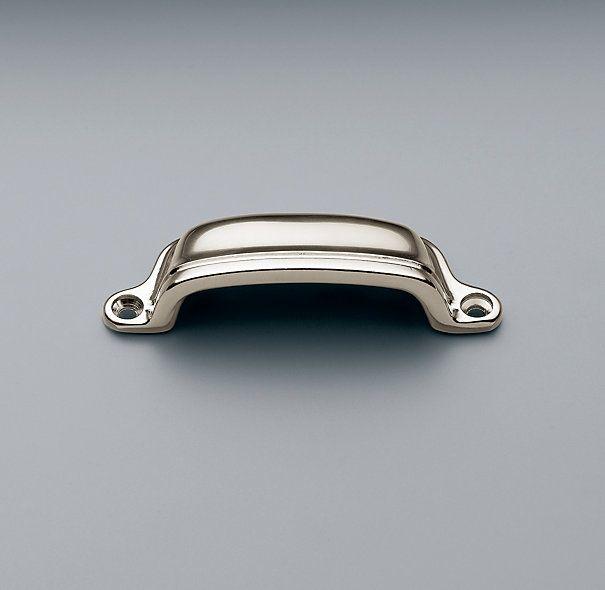 restoration hardware gilmore pull in polished nickel bin pull - Restoration Hardware Kitchen Cabinet Pulls