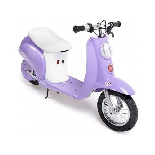 Razor Pocket Mini Moped Electric Scooter Purple Girls