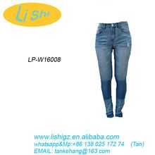 Whole sale lady jeans with stretchy and skinny fit washed in contrust color on knee Best Buy follow this link http://shopingayo.space