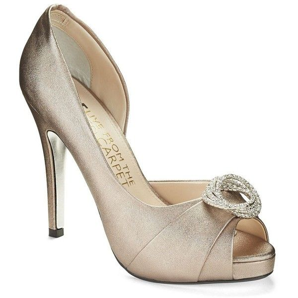 E!LIVE FROM THE RED CARPET Sara Satin Pumps ($110) found on Polyvore