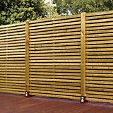 Contemporary Slatted Fence Panel (W)1.79mm (H)1.793mm, Pack of 3 | Departments | DIY at B&Q