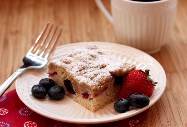 Red White  Blueberry Crumb Cake