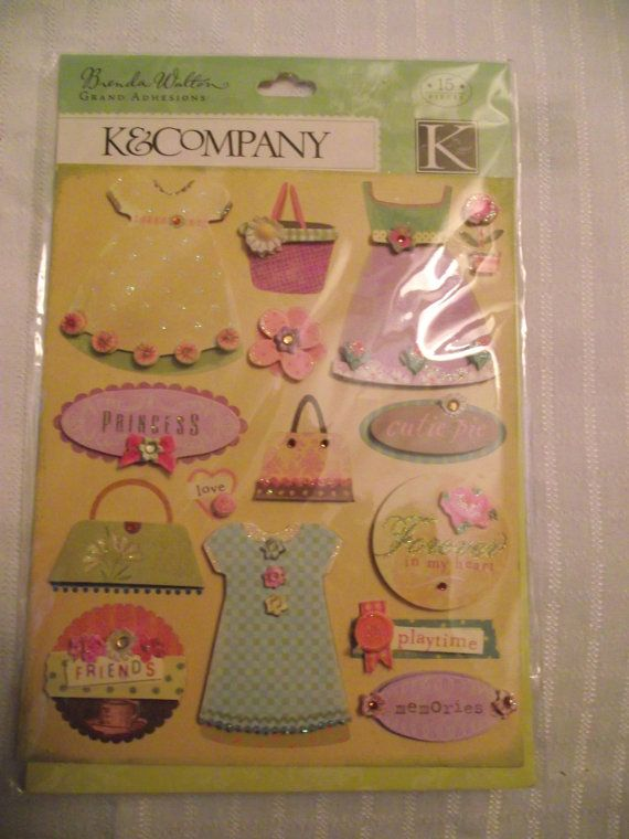 K&Company Little Girl Clothing Stickers15 by KornerCraftSupply