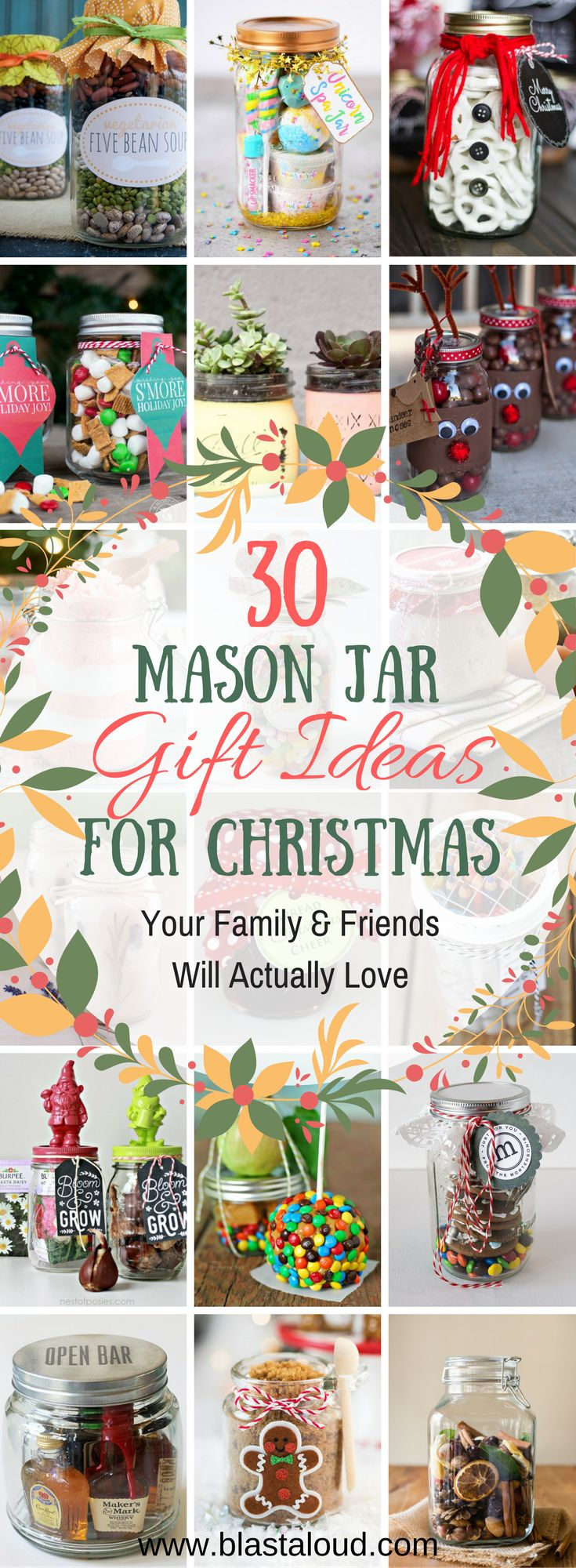 These DIY Mason Jar gift ideas for Christmas are awesome! Now I don't have to worry about what gifts to get for my family - I know they will all absolutely love these gift jars! #christmas #christmasgifts #masonjar #masonjargifts #giftideas #giftinajar