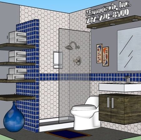 10 best bathroom 9x10 images on pinterest small kitchens for Bathroom design 6x7