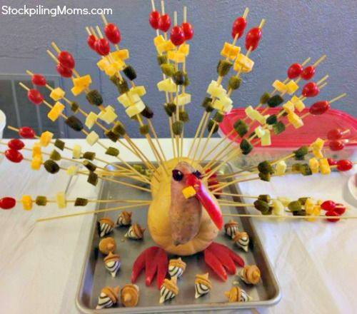 Thanksgiving fruit and cheese Turkey #thanksgiving