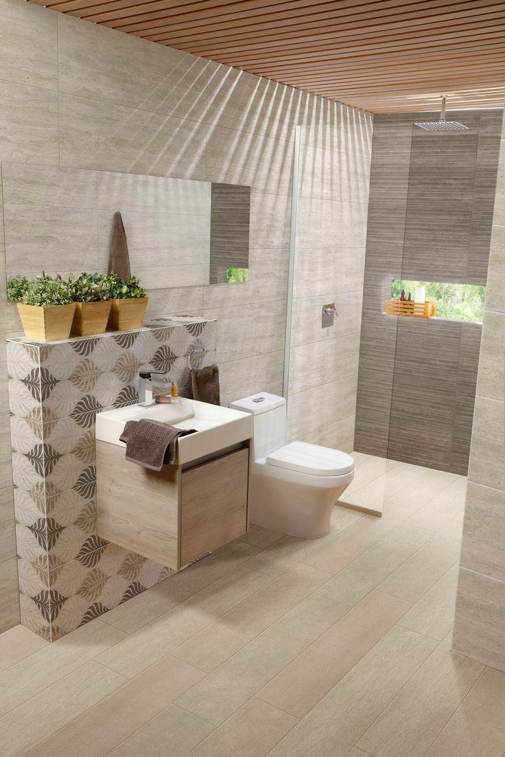 Trae todo el poder de la naturaleza a tu baño, utiliza decoraciones inspiradas en los patrones de plantas