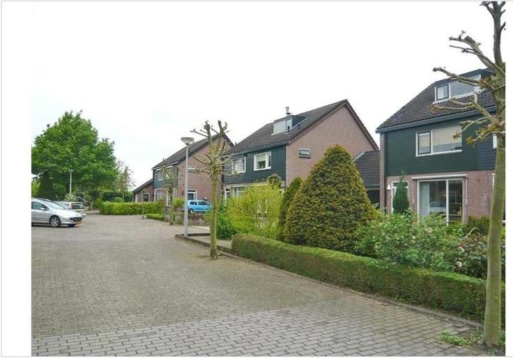 Lijsterhof 4, in een woonwijk, 6 kamers waarvan 5 slaapkamers, badkamer, 2 x toilet, 2 woonlagen en een zolder. Perceeloppervlakte: 263m².