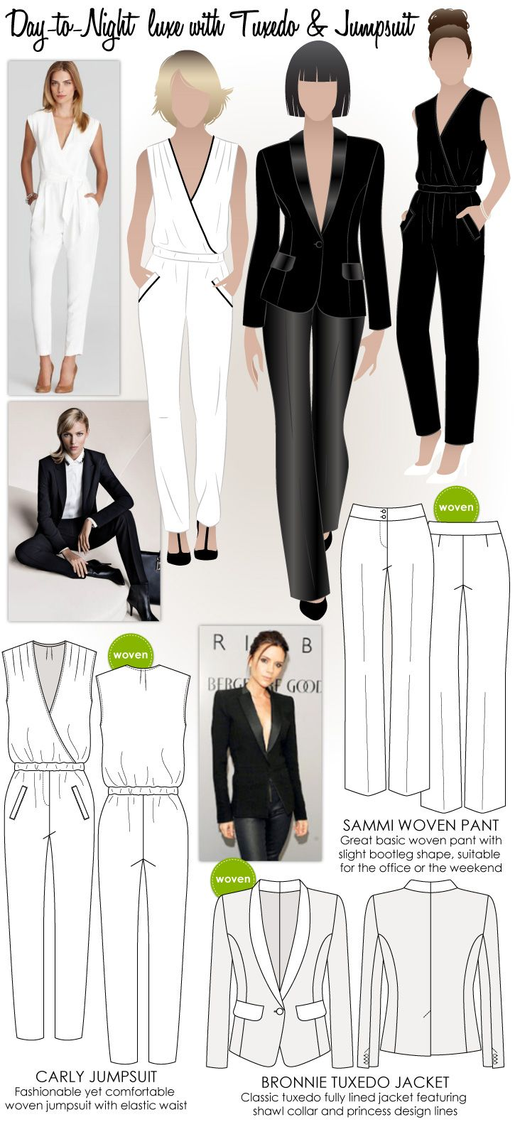 Day-to-Night luxe with Tuxedo & Jumpsuit