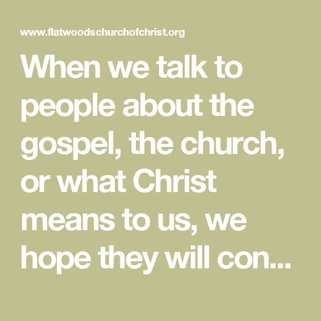When we talk to people about the gospel, the church, or what Christ means to us, we hope they will convert to Christ. The converts we make will naturally follow our example. Do people look at our lives and see only the talk of Christianity, or do they notice our genuine walk in the light of Christ's word? Genuine disciples of Christ instruct others with their lives as well as their words. The world is looking at Christians. Hypocrites among God's people have given ammunition to those outside…