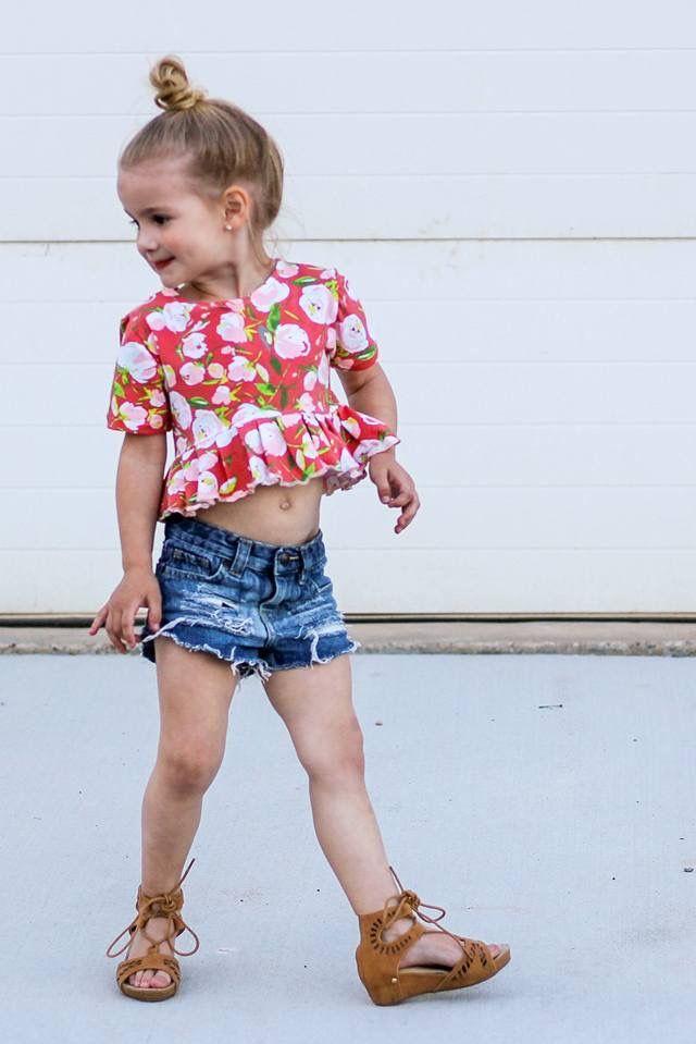0586d080151 The Peplum Crop Top Little Girl Outfits, Little Girl Fashion, Little Girls,  Kids