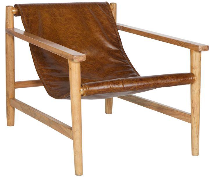 Machen Sie Ihr Wohnzimmer mit dem Leder-Sessel Sling mit einem Gestell aus Akazienholz zur Wohlfühloase. Entdecken Sie weitere tolle Möbel auf >> WestwingNow.