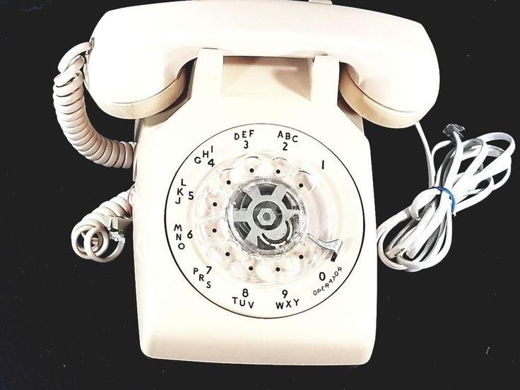 Bell System Western Electric 500 Tan Beige Desk Phone Rotary Dial Telephone #WesternElectric
