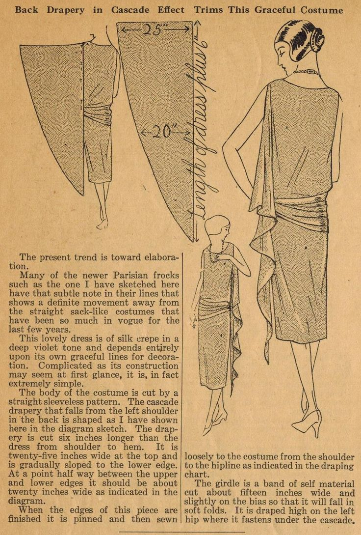 The Midvale Cottage Post: Home Sewing Tips from the 1920s - Adding Draping to Your Frocks