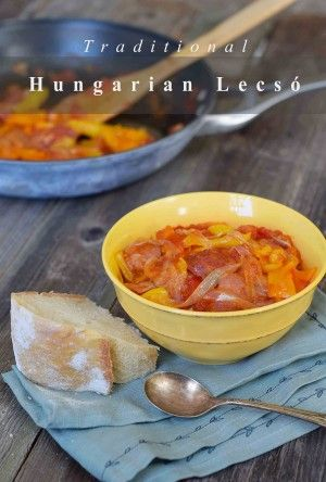 Authentic Hungarian Lecsó, easy, healthy and delicious.  This recipe is gluten-free and paleo and can be made vegan.