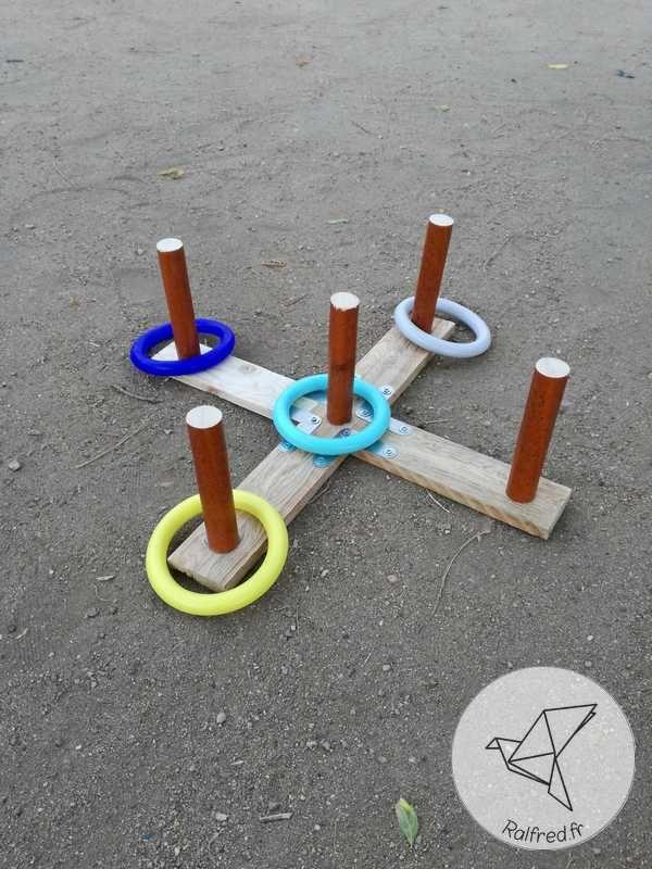 Réalisez vous-même un jeu d'anneaux en bois de palette DIY