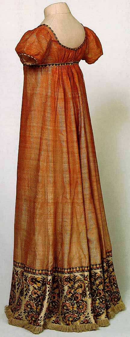 orange regency dress