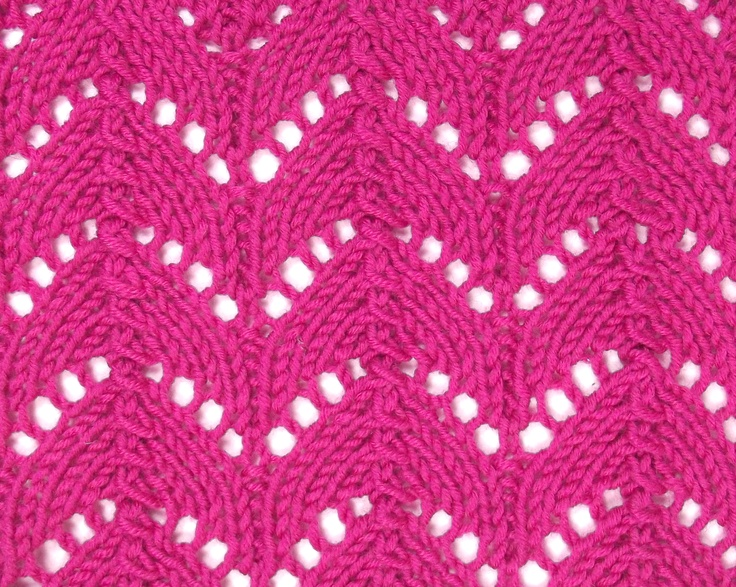 Knitting Horseshoe Lace Stitch Pattern : 1000+ images about November 2012 Knitting Stitch Patterns on Pinterest