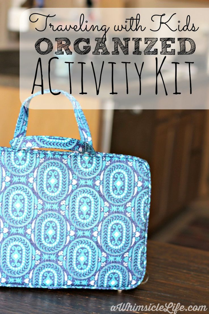 Keep kid's entertained on a flight or long road trip with this travel activity kit. Also includes app suggestions for a toddler and grade school kids.
