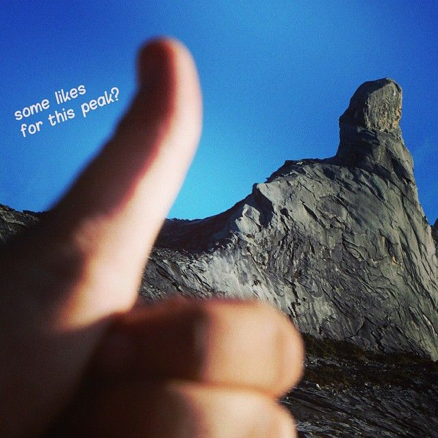 The Mt. Kinabalu has a message!