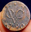 1790 VOC DUIT! DUTCH EAST INDIA COMPANY (SPICE TRADE) SHIPWRECK COIN! (DU6) - http://coins.goshoppins.com/world-coins/1790-voc-duit-dutch-east-india-company-spice-trade-shipwreck-coin-du6/