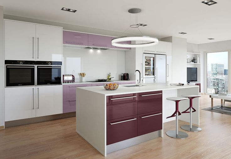 Academy Rialto Kitchen seen here in White Gloss with many other colours also available. Metallic finished also available - stunning!