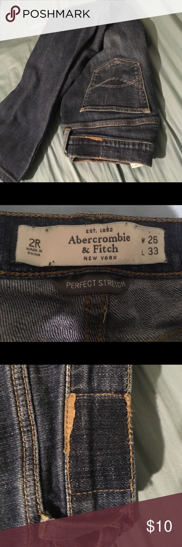 Abercrombie and Fitch Jeans Good condition. Back label has been ripped off. Says 2 regular but has been hemmed to be a 2 short Abercrombie & Fitch Jeans Flare & Wide Leg