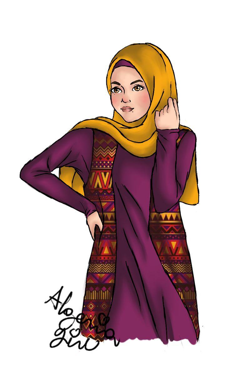 HIJABI GIRL 2 by SNDS-Rouini.deviantart.com on @DeviantArt
