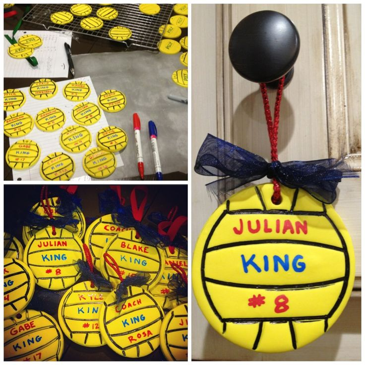 Water Polo ornaments for the team.
