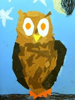 torn paper owls: Art Lessons, For Kids, Owl Art, Grade Art, Deep Spaces Sparkle, Art Ideas, Owl Drawings, Paper Owls, 2Nd Grade