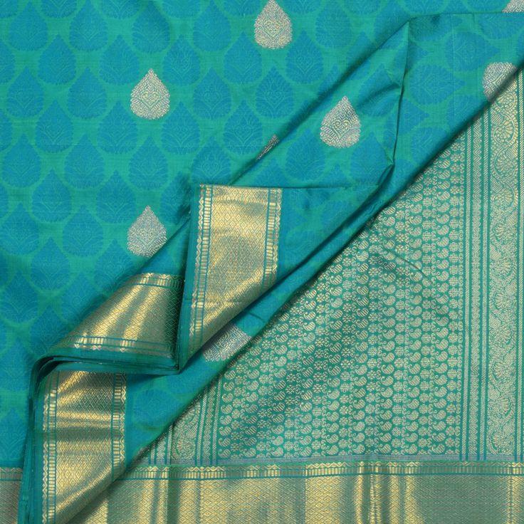 Kanakavalli Handwoven Kanjivaram Silk Sari 1004445 - Sari / Kanjivarams - Parisera